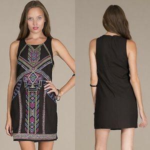 Flying Tomato Black Aztec Dress—L
